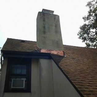 Chimney Copper Flashing Installation
