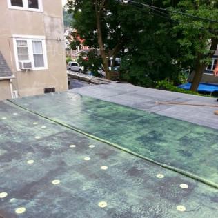 Flat Roof EPDM Installation - Bonding Adhesive