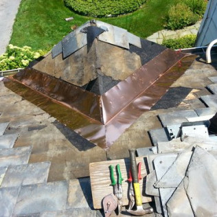 Canopy Copper Flashing Installation