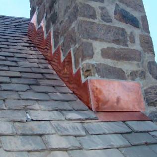 Chimney Copper Flashing Steps